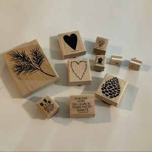 RUBBER STAMPS by STAMPING UP (10 stamps)